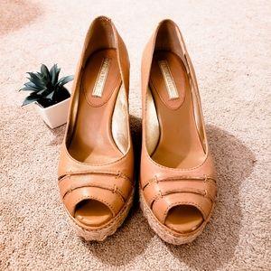 Banana Republic Wedge Peep Toe Sandal 7 1/2